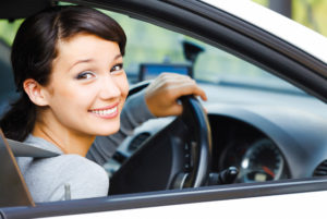 Smiling female driver